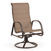 Outer Banks  High Back Sling Swivel Dining Chair