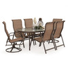 Outer Banks 7 Piece Oval Glass Top Dining Set