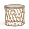 Tortuga Indoor Rattan Round End Table (Sun Bleached)