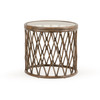 Tortuga Indoor Rattan Round End Table (Espresso)
