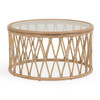 Tortuga Rattan Round Cocktail Table