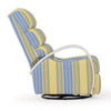 Venice Swivel Glider Recliner with Rattan Arms (Alternate View)