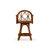 Jamaica Indoor Rattan Swivel Counter Height Stool