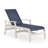 Tobago Outdoor Sling Polymer Chaise Lounge with Arms (Alternate View)
