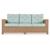 Kokomo Outdoor Wicker Sofa in Oyster Grey finish with Cushions in Sparkle Pool fabric (Alternate View)