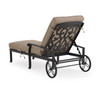 Charleston Outdoor Cast Aluminum Chaise Lounge with Cushion