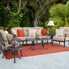 Charleston Outdoor Cast Aluminum Seating Group (Lifestyle View)