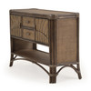 Islamorada Indoor Rattan Console Table with Doors (Alternate View)