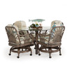 Islamorada Indoor Rattan 5 Piece Swivel Tilt Caster Dining Set