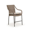 Garden Terrace Outdoor Wicker Counter Height Stool with Optional Cushion