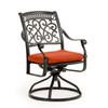 Charleston Outdoor Cast Aluminum Swivel Tilt Dining Arm Chair
