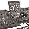 Charleston Outdoor Cast Aluminum Rectangle Extension Table (Detail View)