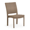 Kokomo Outdoor Stackable Dining Side Chair (Oyster Grey)