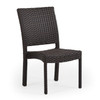 Kokomo Outdoor Stackable Dining Side Chair (Tortoise Shell)