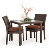 Kokomo Outdoor Stackable Armless 3 Piece Dining Set (Tortoise Shell)