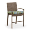 Kokomo Outdoor Wicker Counter Height Stool with Optional Cushion (Oyster Grey)