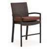 Kokomo Outdoor Wicker Counter Height Stool with Optional Cushion (Tortoise Shell)
