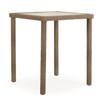 """Kokomo Outdoor 34"""" Square Bar Table (Oyster Grey)"""