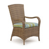Kokomo Outdoor Wicker Dining Arm Chair in Oyster Grey