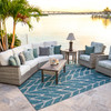 Retreat Outdoor Sectional Group (Lifestyle View)