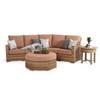 Retreat Outdoor Wicker 45° Wedge Chair in Sandstone