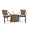 Garden Terrace Outdoor Wicker Counter Stools and Fire Pit