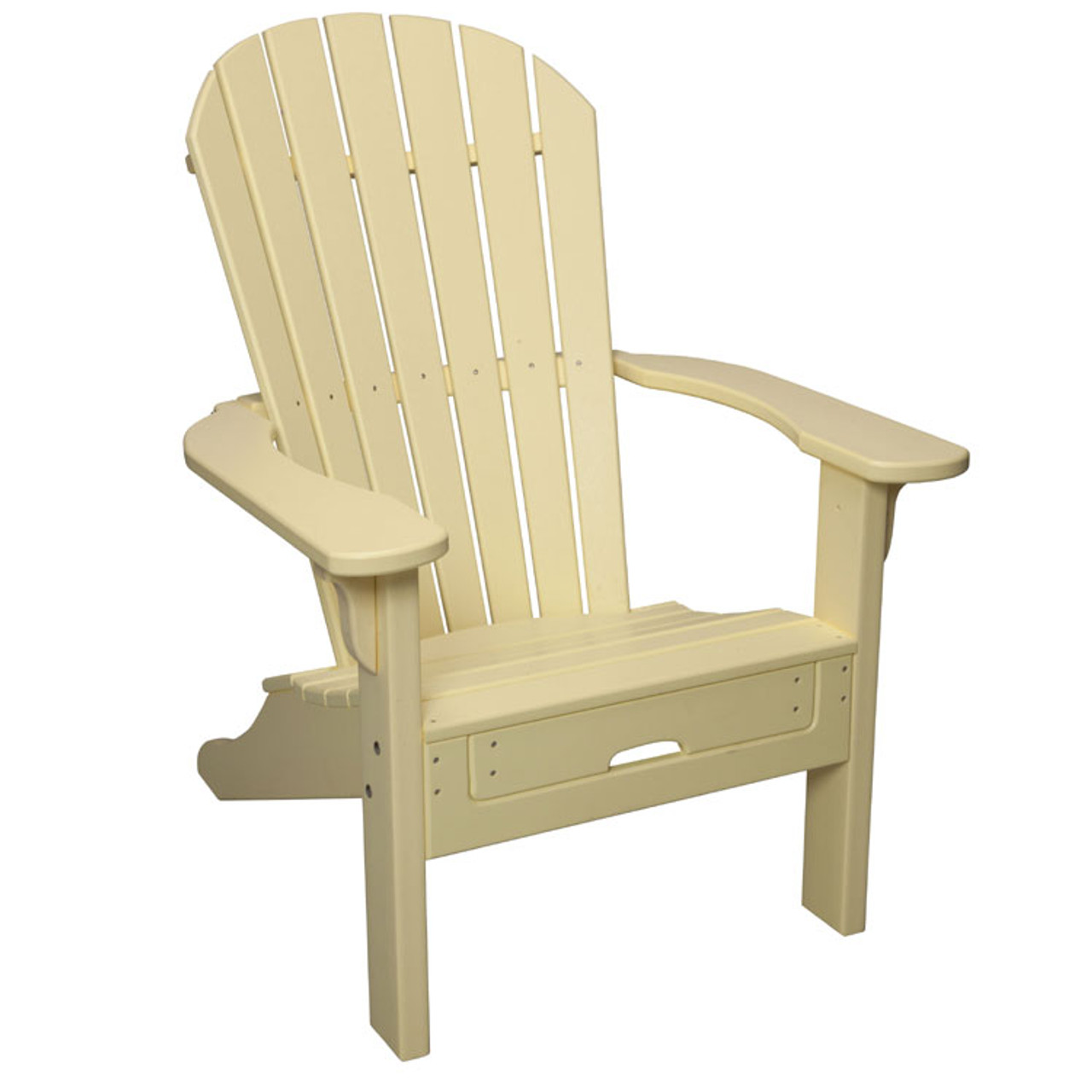 Picture of: Oceanside Outdoor Poly Lumber Adirondack With Pull Out Ottoman Leaders Casual Furniture