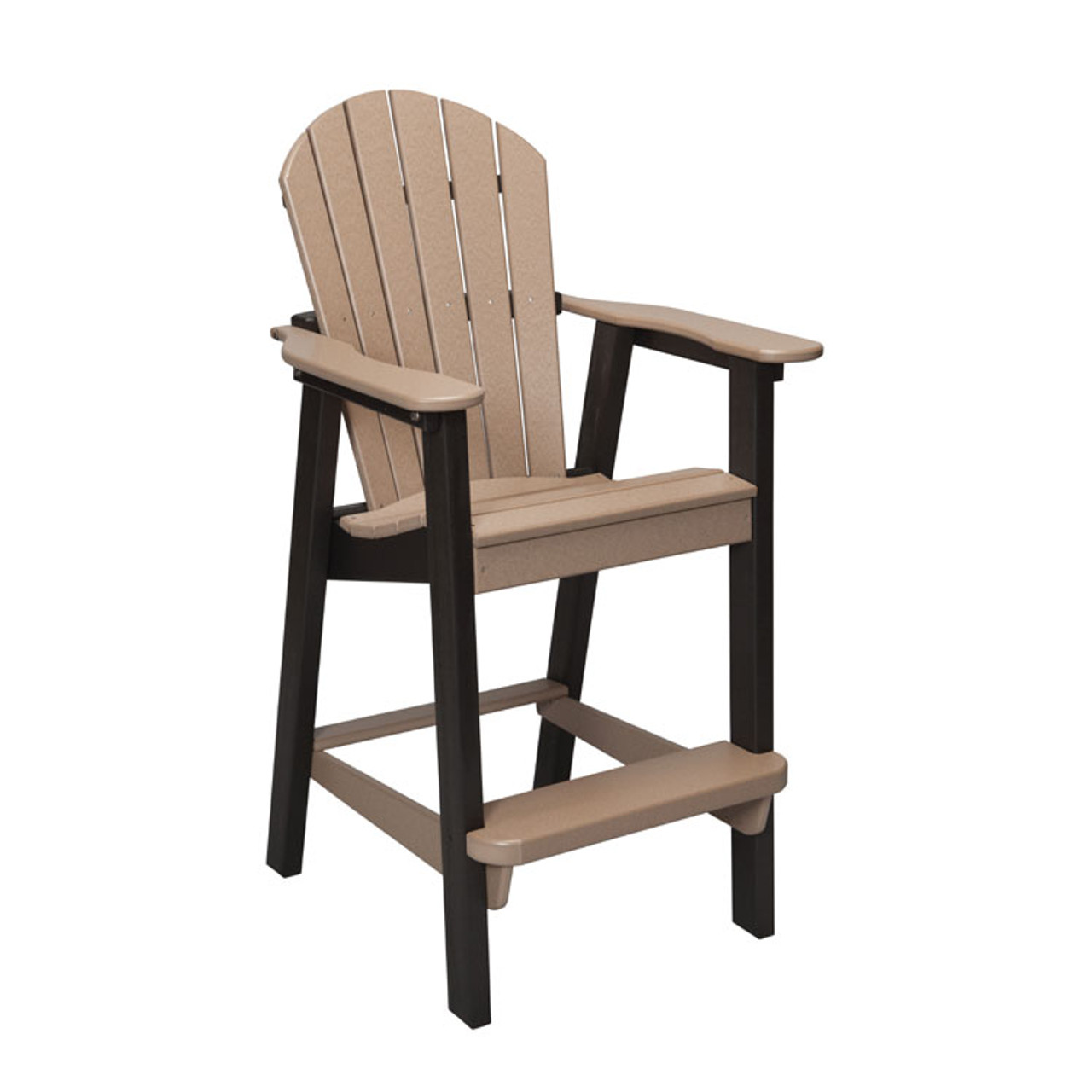 Oceanside Outdoor Poly Lumber Counter Height Stool with Arms