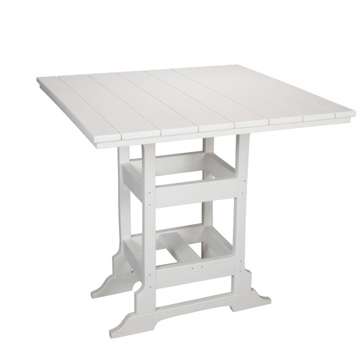 """Oceanside Outdoor 42"""" Square Poly Lumber Bar Table"""