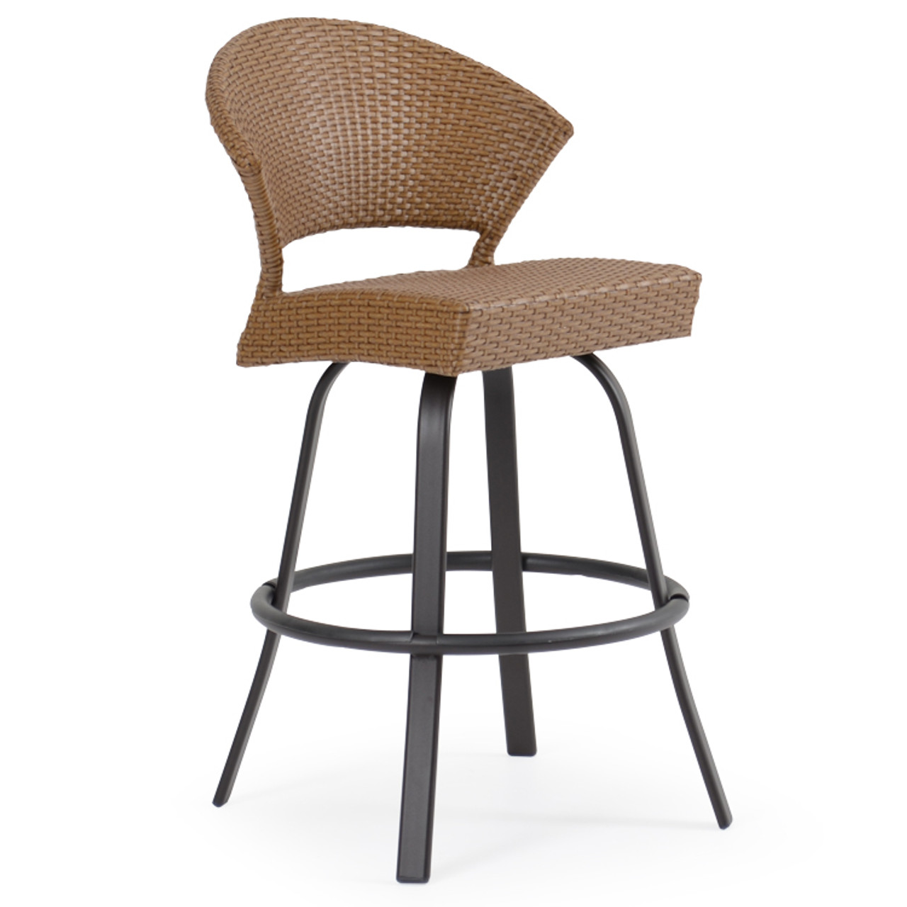 Fine Empire Outdoor Wicker Curved Bar Height Stool Pabps2019 Chair Design Images Pabps2019Com