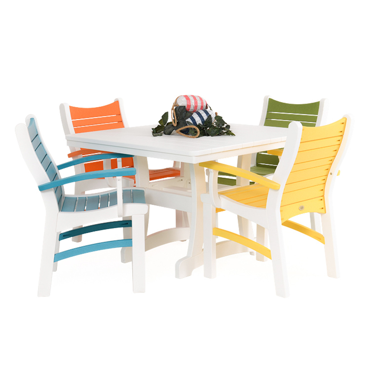 Bayshore Outdoor 5 Piece Multi-Colored Poly Lumber Dining Set