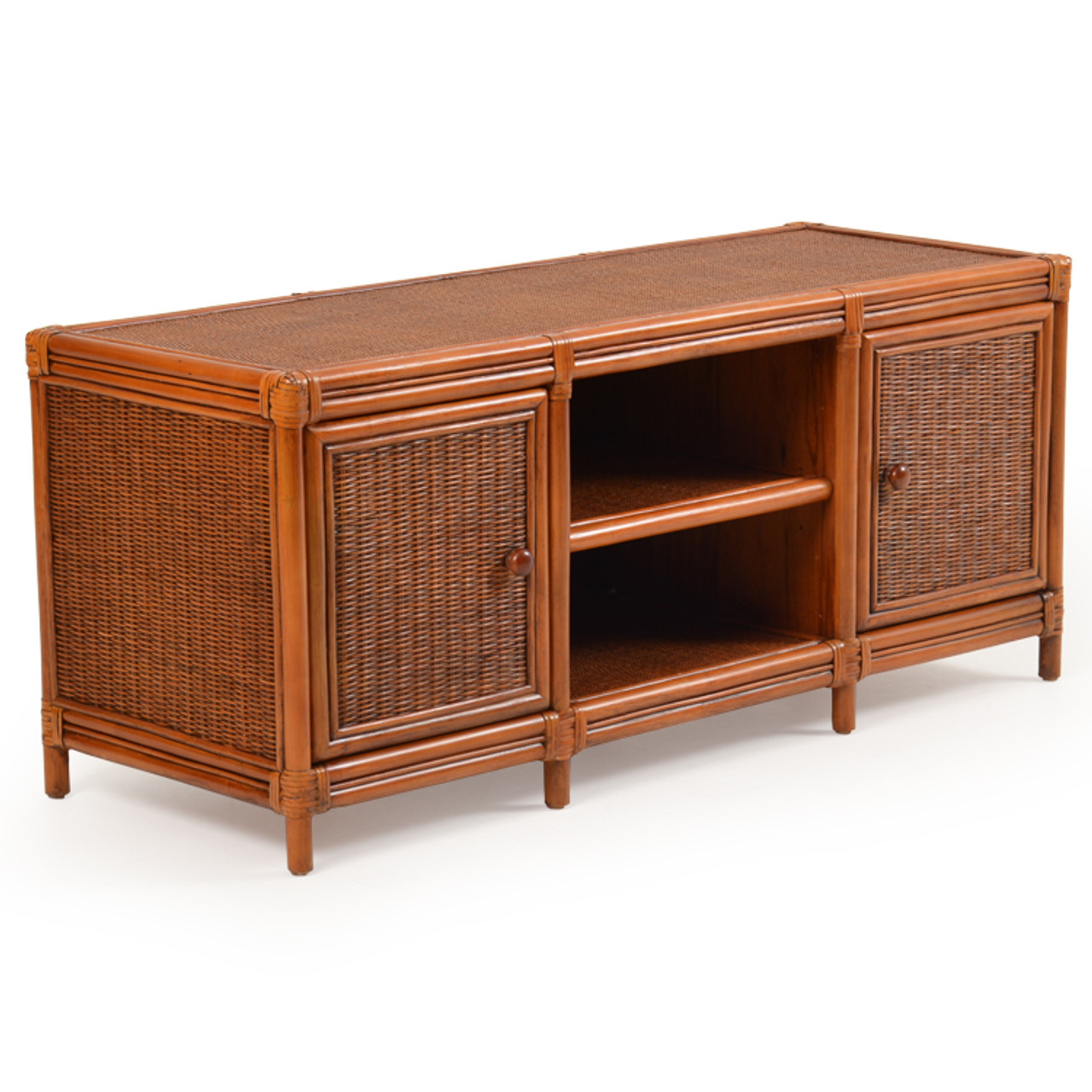 Bali Rattan Plasma Tv Stand Leaders Casual Furniture