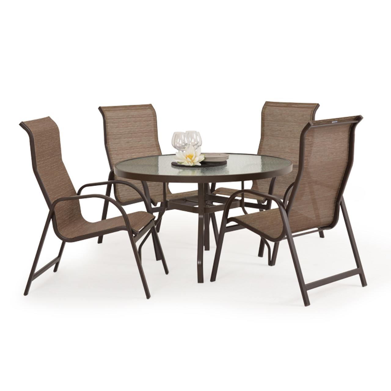 Outer Banks 5 Piece Dining Set With Dining Arm Chairs Leaders