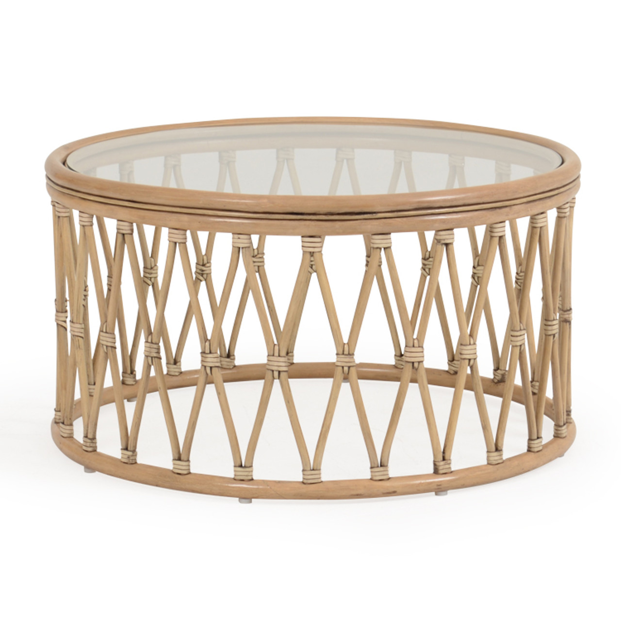 - Tortuga Rattan Round Cocktail Table - Leaders Casual Furniture