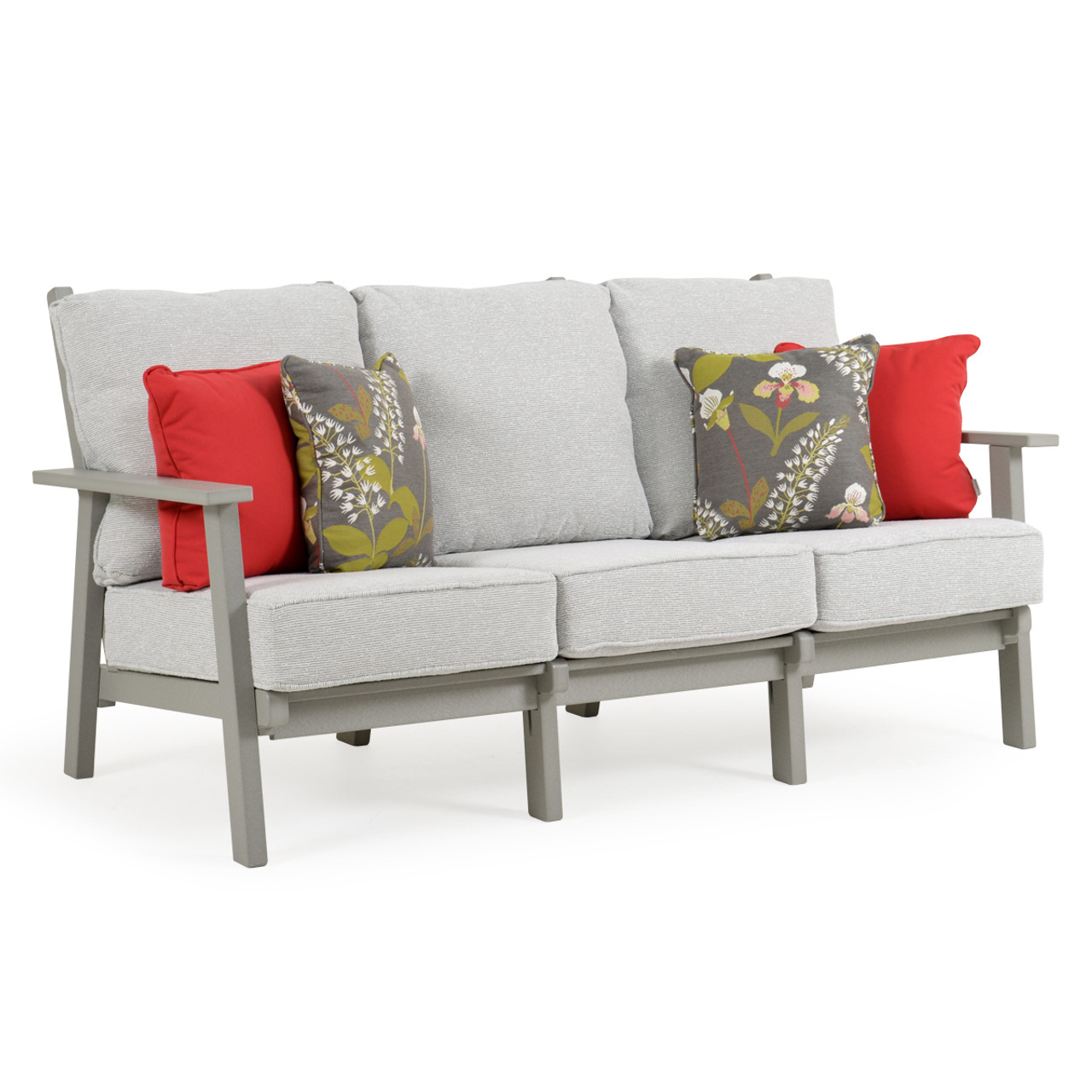 Outdoor Patio Couch Set, Marina Outdoor Poly Lumber High Back Sofa Leaders Casual Furniture