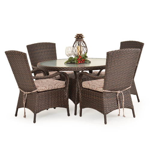Kokomo Outdoor Wicker 5 Piece Dining Set (Tortoise Shell)