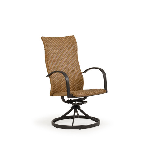 Empire Outdoor Wicker High Back Swivel Tilt Dining Chair