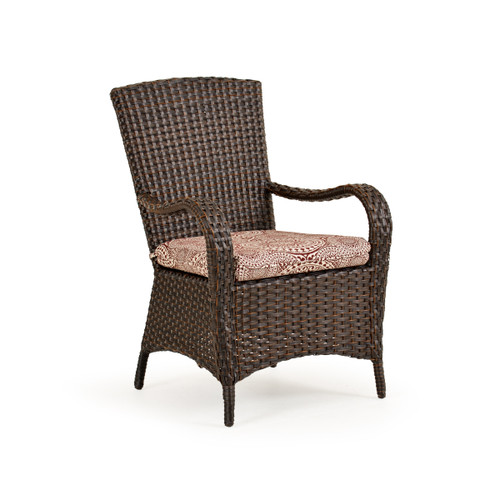 Kokomo Outdoor Wicker Dining Arm Chair in Tortoise Shell