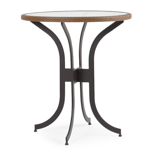 "Empire Outdoor Wicker 36"" Round Bar Height Table"