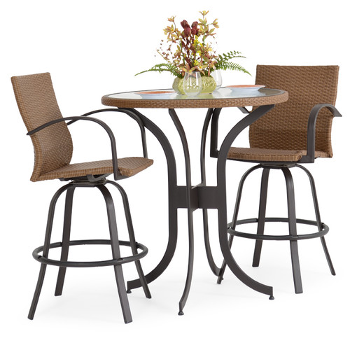 Empire Outdoor Wicker 3 Piece Bar Set