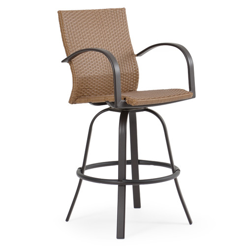 Empire Outdoor Wicker Bar Height Stool with Arms