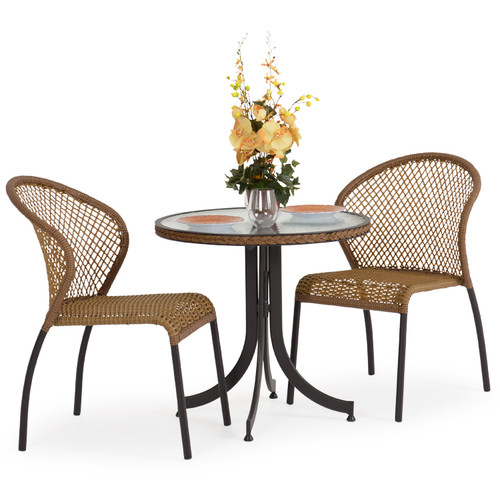 Empire Outdoor Wicker 3 Piece Bistro Set