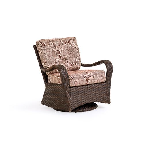 Kokomo Outdoor Wicker Swivel Glider Chair in Tortoise Shell
