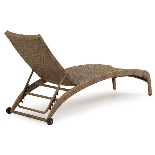 Kokomo Outdoor Wicker Armless Chaise Lounge - Leaders ...