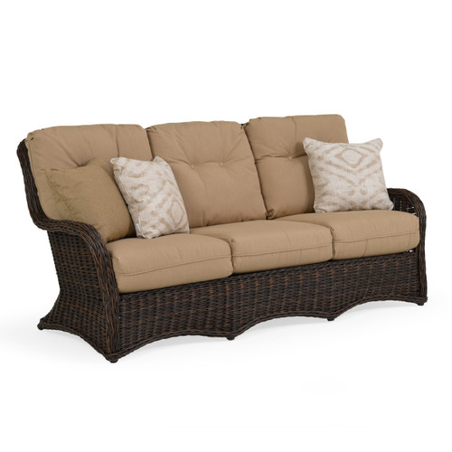 Maldives Outdoor Wicker Sofa in Clove