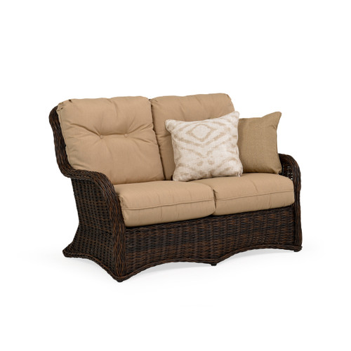 Maldives Outdoor Wicker Loveseat in Clove