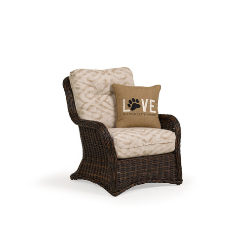 Maldives Outdoor Wicker Lounge Chair in Clove