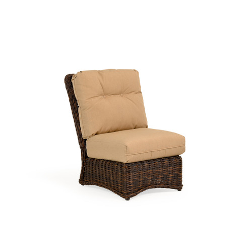 Maldives Outdoor Wicker Armless Chair in Clove