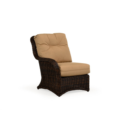 Maldives Outdoor Wicker Left Facing Arm Chair in Clove