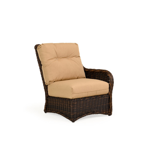 Maldives Outdoor Wicker Right Facing Arm Chair in Clove